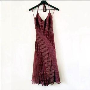 Betsey Johnson | Vintage Burgundy Silk Dress 4